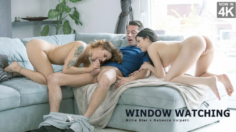 Billie Star, Rebecca Volpetti: Window Watching HD 1080p