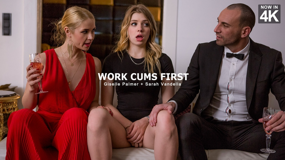 Giselle Palmer, Sarah Vandella: Work Cums First HD 1080p